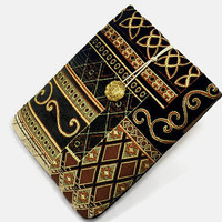 Hand Crafted Tablet Case from Royal Embroidery Fabric/Case for:iPad Mini,Kindle Fire HD7,Samsung Galaxy 7, Google Nexus,  Nook HD 7