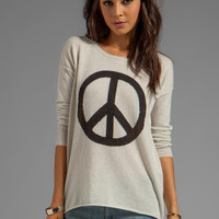 Autumn Cashmere Peace Crew Sweater in Hemp/Pepper from REVOLVEclothing.com
