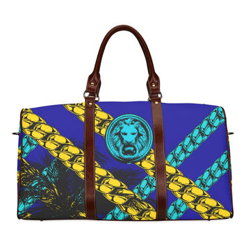Blue Chain Luxury Street Travel Bag by No Fixed Abode