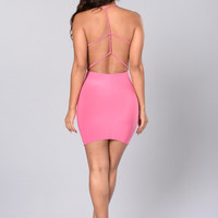 Ladies Night Dress - Pink