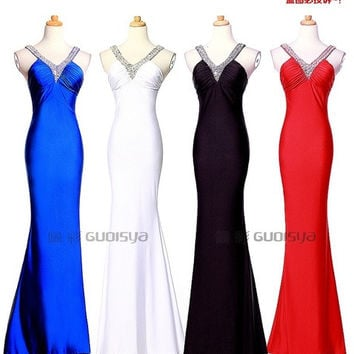 2015 Latest Fashion Women  Sexy Evening Party Clubwear long Dress Elegant Royal Bridesmaid Prom Gown Wedding NEW Hot Sale = 1705144964