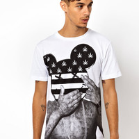 BePriv No Face Flag T-Shirt Exclusive To Asos Uk