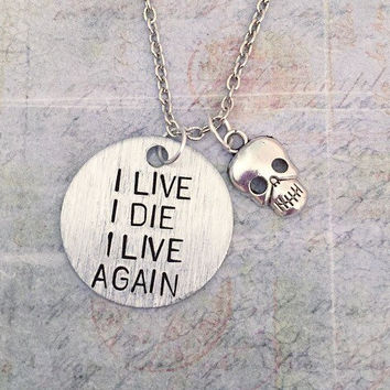 I Live I Die I Live Again Necklace Mad Max by LulusStampings