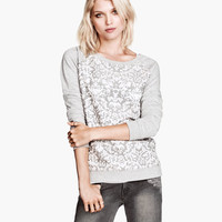 Melange Sweatshirt - from H&M