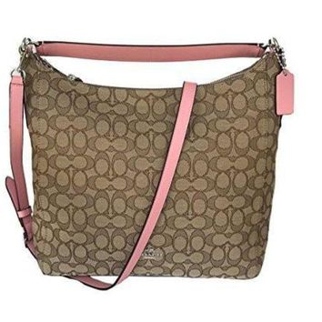 ONETOW Coach Outline Signature Celeste Hobo Shoulder Crossbody Bag Purse Handbag