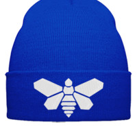 BEE BARREL EMBROIDERY HAT - Beanie Cuffed Knit Cap