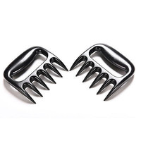 1 Pair Bear Paws Claws Meat Handler Fork Tongs Pull Shred Pork BBQ Barbecue Z12