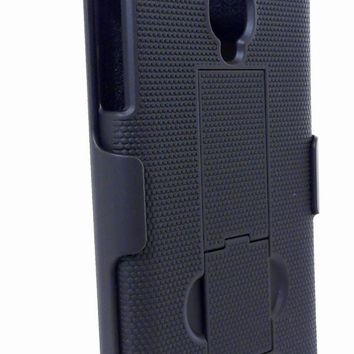 T-Mobile Alcatel OneTouch Fierce Protective Shell Case and Holster Combo - Black