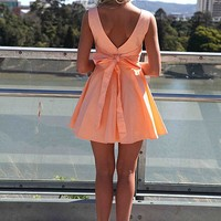 APPROACH TIE BOW DRESS , DRESSES, TOPS, BOTTOMS, JACKETS & JUMPERS, ACCESSORIES, SALE, PRE ORDER, NEW ARRIVALS, PLAYSUIT, COLOUR, GIFT VOUCHER,,Orange,SLEEVELESS Australia, Queensland, Brisbane