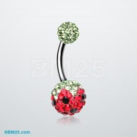 Pink Berry Tiffany Inspired Sparkle Ferido Belly Ring