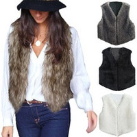 Zanzea Women Faux Fur Vest Jacket Sleeveless Winter Body Warm Coat Waistcoat Gilet [7687676422]