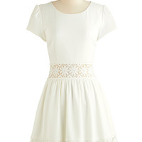 ModCloth Mid-length Short Sleeves A-line Cloud Sourcing Dress