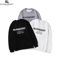 Burberry 2019 new men's and women's cotton round neck long-sleeved sweater