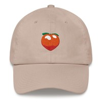 Peach Emoji Dad hat