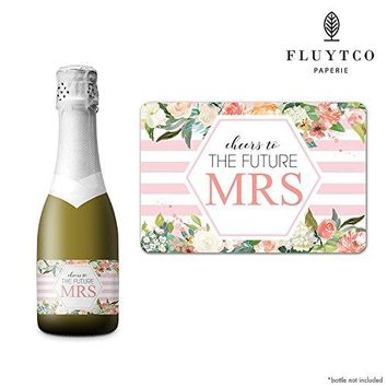 FUTURE MRS  Set of 20 Bachelorette Label Stickers for Mini Champagne Bottle amp Gift Box  Bridesmaid Maid amp Matron of Honor Proposal Gift Engagement Party Bridal Shower