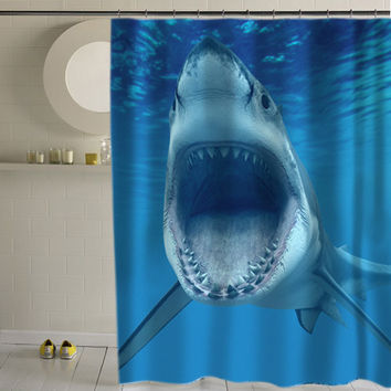 Shark special shower curtains special custom shower curtains that will make your bathroom adorable.