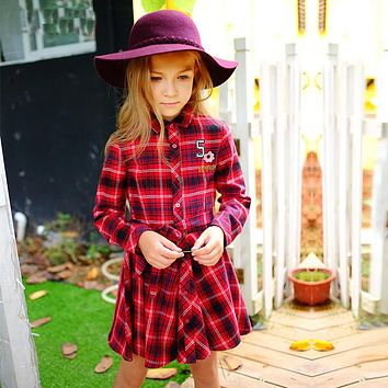 Girls Autumn Dresses Toddler Christmas Dress Princess Costume 2017 Brand Robe Fille Kids Dresses with Sashes Children Clothes
