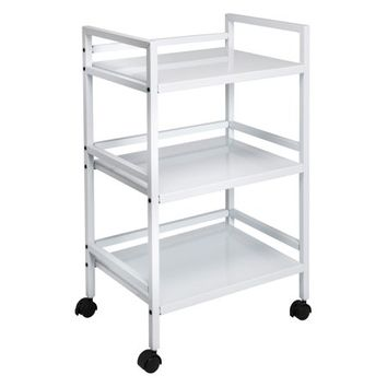 Honey Can Do 3-Tier Steel Rolling Cart with 2 Locking Wheels, Multicolor - Walmart.com