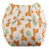 Blueberry One Size Deluxe Snaps, Giraffe