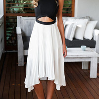 Color-block Cut Out Asymmetrical Dress