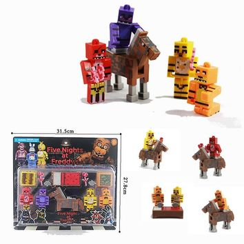 Assemble Freddy Toys 4 Action Figure+1 Horse Blocks Puppet Track Doll Cinco de Mayo Bear  at  Game Kids Toy