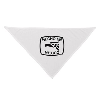 Hecho en Mexico Eagle Symbol with Text Dog Bandana 26 by TooLoud