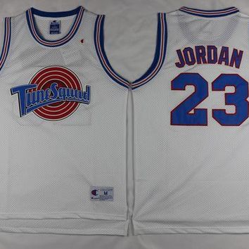 UCANUJ3V Space Jam Tune Squad Basketball Jersey Michael Jordan #23 Black/ White