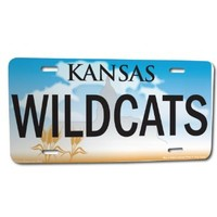 "Front License Plate - Kansas State ""Wildcats"" - State of Kansas"