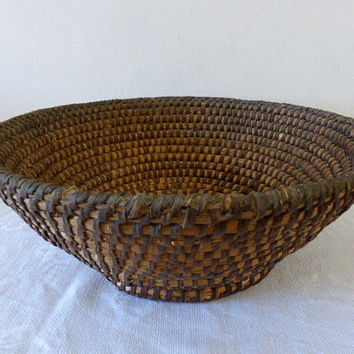 Antique French Rye Coiled Basket