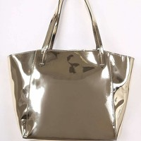 Metallic Patent Two In One Tote Bag
