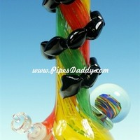 Fearsome Soft Glass Water Pipe - Rasta