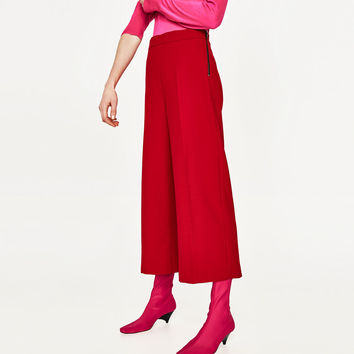 CULOTTES WITH SIDE ZIP