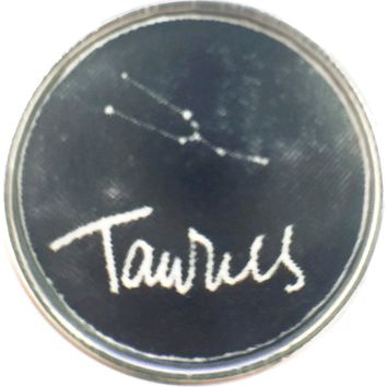 Taurus Star Constellation Cosmos Zodiac Sign Horoscope Symbol 18MM - 20MM Charm for Snap Jewelry New Item