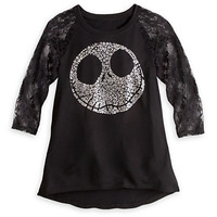 Disney Jack Skellington Lace Sleeve Tee for Women | Disney Store