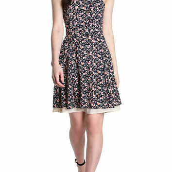 Kortnie Floral Halter Dress