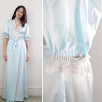 Vintage '80s Christian Dior Robe - Long Duster House Coat - Size Small to Medium