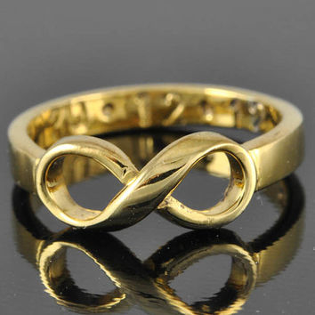 10K gold infinity ring, infinity knot ring, best friend ring, promise ring,personalized ring, friendship ring, sisters ring
