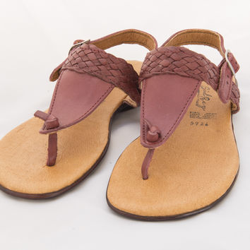 Mexican Huarache Sandals - Women's Almendra Style Cherry