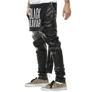 REMEDY 2017 Fashion Spring Men And Women Overalls PU Leather Pants Harem Pants Jumpsuit Leggings Siamese Trousers Hip Hop Pants