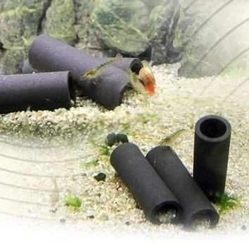 Aquarium Tank Tube Breeding Hiding Cave Shelter For Fish Shrimp Spawn Live Plant