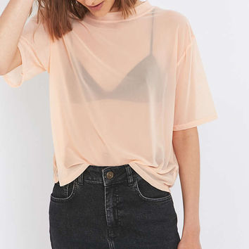 Light Before Dark Mesh T-shirt - Urban Outfitters
