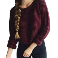 2018 Autumn winter women sweaters and pullovers long sleeve casual crop sweater slim solid knitted jumpers sweter mujer