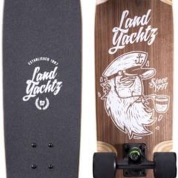 "Landyachtz Dinghy Captain 28.5"" Cruiser Skateboard Complete - black trucks / black 63mm (78a) hawgs wheels - Skate Shop > Completes > Cruiser Completes"