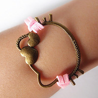 bracelet hello  kitty bracelet&antique bronzen   by Youthinfinited