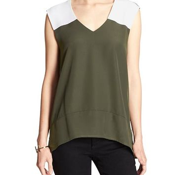Banana Republic Factory Sleeveless Colorblock Blouse