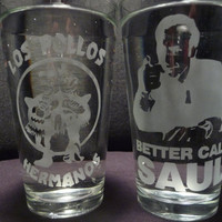 Breaking Bad 16 oz Glasses- Set of 2