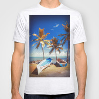 Boats and Palm T-shirt by Cinema4design