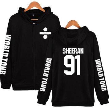 Ed Sheeran Zipper Autumn Hoodies World Tower Men/Women Long Sleeve Fashion Zipper Hoodies Harajuku Sweatshirts Fashion Clothes