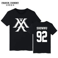Youpop KPOP Korean Fashion MONSTA X T-shirt I.M JOOHEON MINHYUK SHOWNU Cotton Tshirt T Shirt Short-Sleeve K-pop Tops