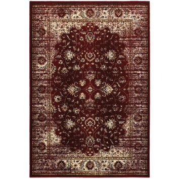 Oriental Weavers Empire 114R4 Red/ Ivory Oriental Area Rug